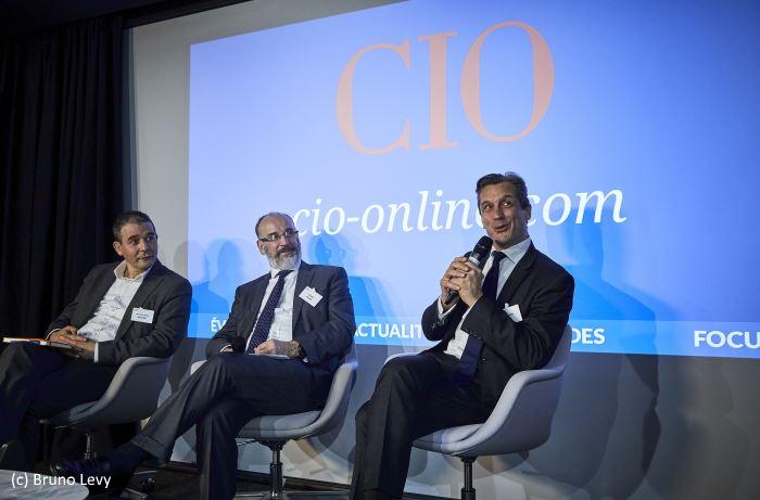 Henri d'Agrain (Délégué Général, CIGREF), Mahmoud Denfer (Global Chief Information Security Officer, Vallourec) et José Perez (Chief Information Security Officer France; Afrique, Allianz)